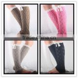 Knitted Lace Leg Warmers Buttons for Girls - boot socks - boot warmers Grace and Lace