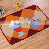 The New Design Coffee Cooking Theme Loop Pile Polyester Printing 40*60cm Kitchen Door Floor Mat Rug Carpet