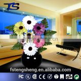 Holiday weddings decorative fiber optic and cloth artificial flower with led