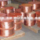 pure copper red 99.9% flexible flat tin copper braided wire