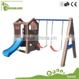 High Quality Kindergarten plastic slide and swing set                                                                         Quality Choice