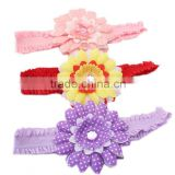 Top elastic sunflower headband for baby,wholesale nylon headbands
