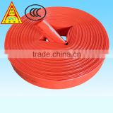 PVC lined fire hose and hose reel for fire hose cabinet