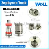 New Arrival In Stock Hot Youde Clearomizer Genuine Top Filling Sub Ohm Tank UD Zephyrus