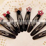 fashionable alloy crystal flower shape black colour bobby pin