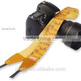 yellow Leather Camera Strap Shoulder Neck Russian Series For DSLR for Canon for Nikon Q-01
