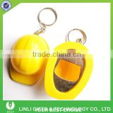 Plastic Safety Helmet Shape Bottle Opener Keychain