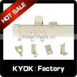 KYOK hot sell alumnium curtain track and rails,high quality sliding curtain track ,curtain track accessories wholesale