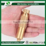 High Quality Mini Brass Waterproof Pill Match Box Compass Medicine Pill Bottles Outdoor Camping First Aid Cartridge Edc