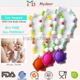 2015 hot sale 100% FDA Beautiful Silicone Beads/Silicone Jewelry Products/Mom Teething Necklace