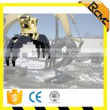 Excavator wood grapple rock grab for various excavator
