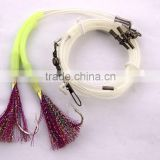 Groper Heavy Duty rigs two Flasher 13/0 recurve circle hooks effective on other deep water fish
