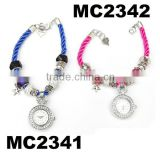 fashion girls beads charms custom watches wholesale