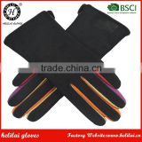 Helilai Factory Best Price Women Dress Gloves Winter Warm Ladies Soft Suede Leather Gloves