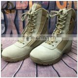 Men dress beige leather good quality cheap price military tactical boots army jump boots