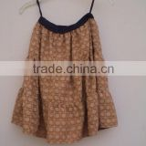 Adults Age Group and OEM Service Supply Type Real Micro Mini Embroidery Techniques Fabric Waist Skirt
