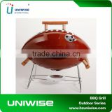 Japanese Home Football BBQ Charcoal Grill with Wood Handle