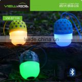 Hot Selling Portable led bulb bluetooth speaker with egg shape VM-BT106