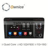 Ownice Quad Core Pure Android 4.4 for Audi S3 A3 Car DVD GPS Built-in bluetooth handsfree