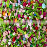 All colorful wholesales artificial fabric 13mm mini rose flowers for baby hair accessories/clothing