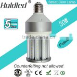 Hot 360 degree lighting 30W LED Street Road Lamp LED Street Bulb Light with UL DLC CE with 5 years warranty