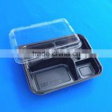 5 Dividers Lunch Container Disposable Plastic