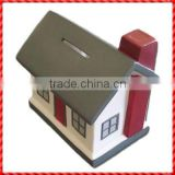 New arrival house shaped ceramic cash storage box