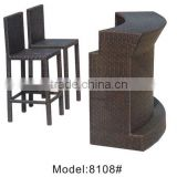 Living room bar table & chairs PE rattan Bar Chair & tables counter table & chair