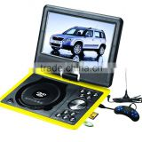 Eccellent home DVD VCD EVE players 9 inch portable dvd player with 18650 play longtime battery