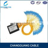 1x2 Bare fiber plc splitter 250um Bare Fiber steel tube type mini size fiber optic splitter gpon splitter