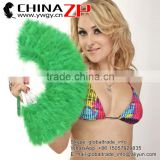 Factory Wholesale Handmade Elegant Green Marabou Feather Hand Fan Costume Fun Act Burlesque Decor Dancing