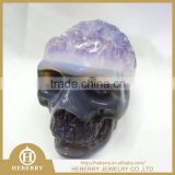 Hand carved natural amethyst quartz crystal skull,amethyst carved alien skulls,skull craft,crystal carvings