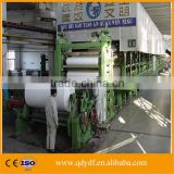 ZYDF1880D-2W3 Engineer overseas service waste paper bleached wood pulping process A4 writing paper notebook paper making machine