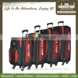 TB6-006 Hot Selling Aluminium Frame 4 sets fabric trolley bag suitcase Luggage sets with 4 wheels