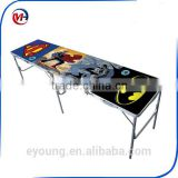 Direct factory customs design aluminum folding beer pong table