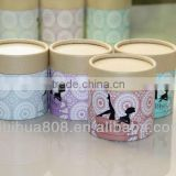 Eco friendly kraft paper push up paper tube for gift