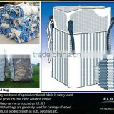 100% pp woven breathable big bag, breathable FIBC bag, 1000kg breathable jumbo container bag