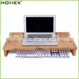 Bamboo Monitor Riser Stand Computer Laptop Stand/Homex_FSC/BSCI Factory