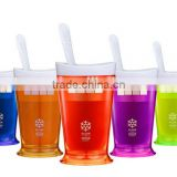 Hot selling Promotional Gift Custom Print Manual Smoothie Milkshake Cups Plastic Slush Shake Plastic Icecream Cup