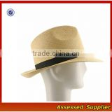 ZT-119/Custom High Quality Panama Fedora Sun Hat Wide Brim Straw Panama Hat Women Summer Hat