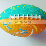 3# mini custom logo design rubber ball for kids