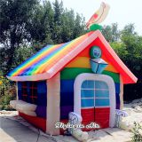Multicolor Outdoor Decorations Inflatable Rainbow Tent for Event