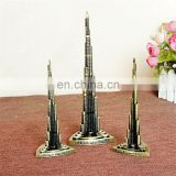 Vintage Decor Metal Craft Retro Antique Bronze Burj Khalifa Model Home Decoration
