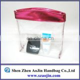 Zipper lock sealed clear cosmetic bag