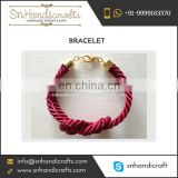 Best Selling Cranberry Red Silk Cord Bracelet with Lobster Hooks
