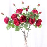 Wholesale Price Long Branch Artificial Crystal Rose For Wedding Decor