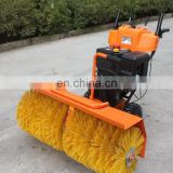 Rolling brush snowplow machine/high speed hand snowsweeper