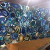 Semiprecious Stone Lapis Lazuli Blue Agate Wall Tile Slabs Transparent Onyx Gemstone Luxury Interior Decoration