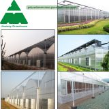A Shape Roof / Arch Roof PC Sheet Covering Greenhouse