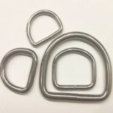 High Polished Stainless Steel 304/316 Welded d Ring for Bags&Dog Collars